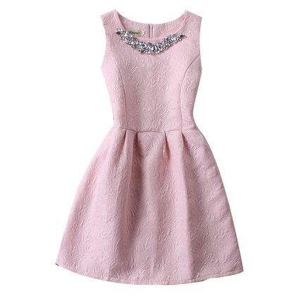 Slim Thin Vest Dress Women Mini Tutu Summer - Pink - STUPA FASHION