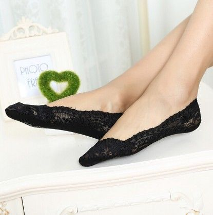 Lace Black Socks - Dell's World