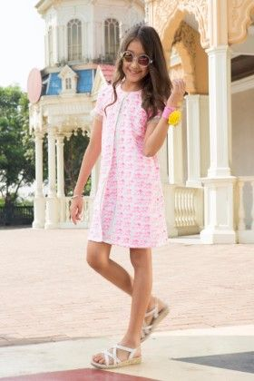 Twinkle Birdy Pink A Line Dress With Frill Sleeves - Masaba For Magic Fairy