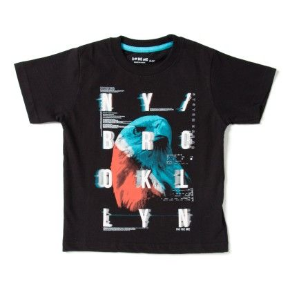 Ny Brooklyn Print Black T-shirt - Do Re Me