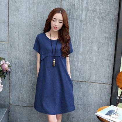 Short Dress Female - Blue - STUPA FASHION