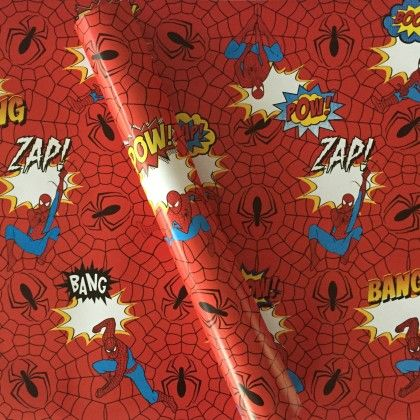 Spiderman Wrapping Paper - Dots & Doodles