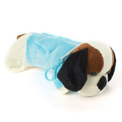 Doggy Soft Pencil Pouches (blue) - It's All About Me
