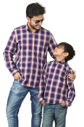 Full Sleeve Shirt Checkered Shirt For Boys - BonOrganik