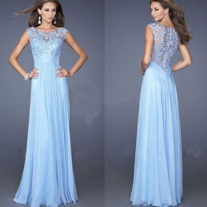 Blue Long Evening Dress - Dell's World