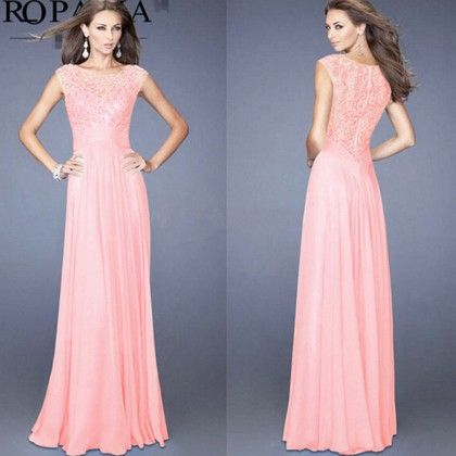 Pink Long Evening Dress - Dell's World