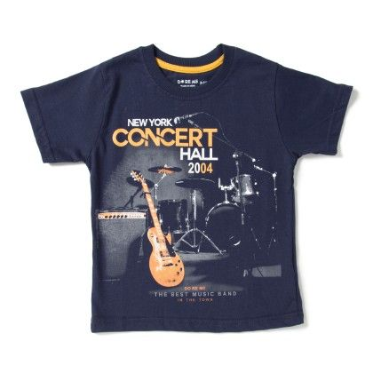 New York Concert Hall Print Navy T-shirt - Do Re Me
