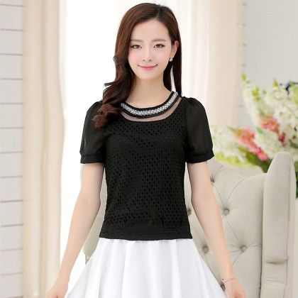 Black Color Lace Top - STUPA FASHION