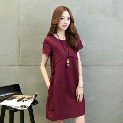 Short Dress Female - Wine - STUPA FASHION