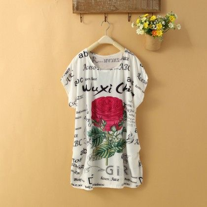 Rose Print Top - Dell's World