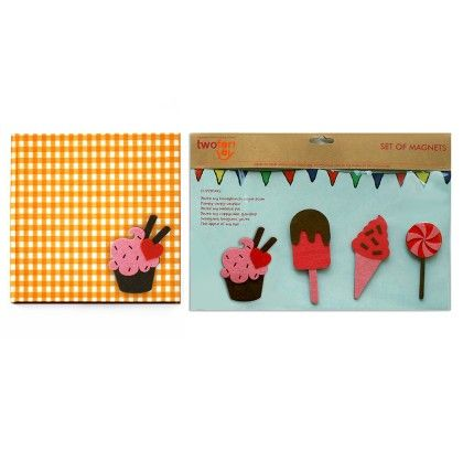 Combo Cupcake Diary With Cupcake Fridge Magnet - Two For Joy