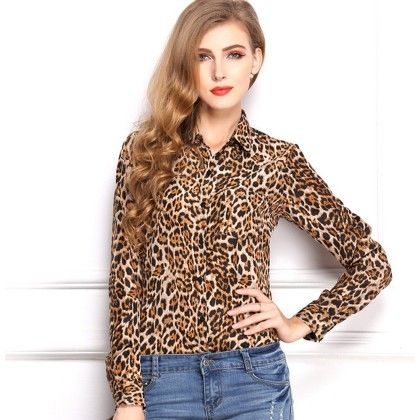 Tiger Print Top - Dell's World
