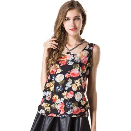 Floral Print Top - Dell's World