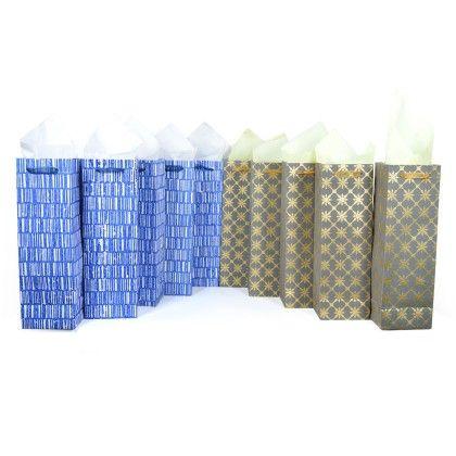 Set Of 10 Multi-color Wine Bag - RATAN JAIPUR