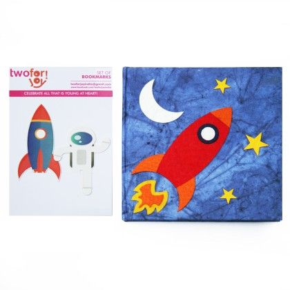 Combo Rocket Diary With Rocket Bookmark - Two For Joy