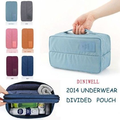 Travel Undergarments Divided Pouch -assorted Color - Total Gift Solutions