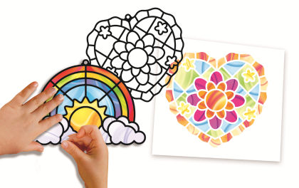 Stained Glass Made Easy - Rainbow And Hearts Ornaments - Melissa & Doug