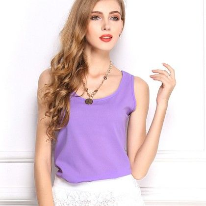 Violet Sleevless Top - Dell's World