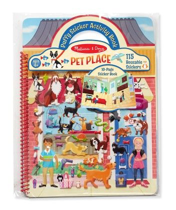Puffy Sticker Activity Book - Pet Place - Melissa & Doug