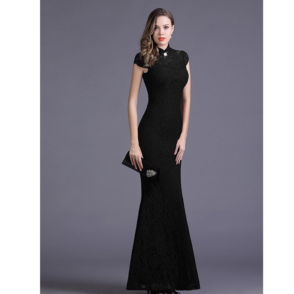 Elegance Black Colored Party Dress - STUPA FASHION