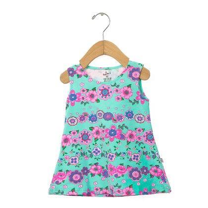 Cute Green Multi Floral Printed Frock - Chocoberry