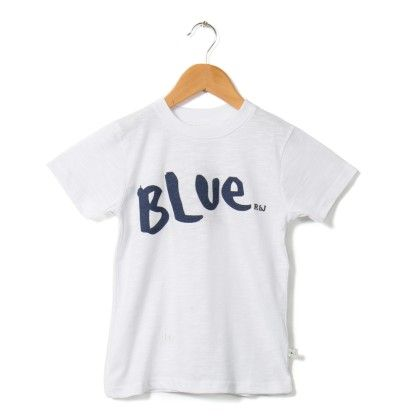Blue Printed White T-shirt - Raine & Jaine