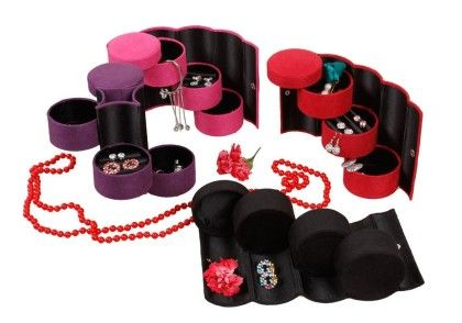 Travel Roll Up Jewellery Box Assorted 1 Unit - Total Gift Solutions