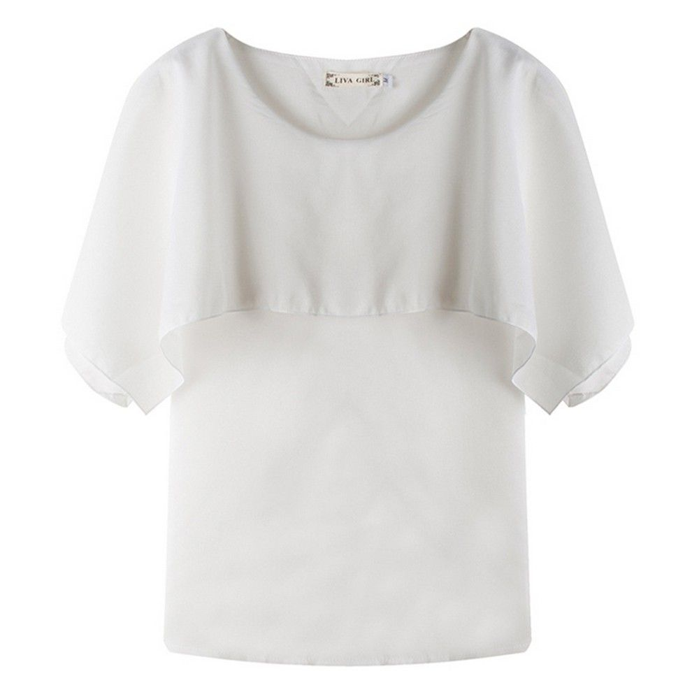 White Pleated Top - Dell's World