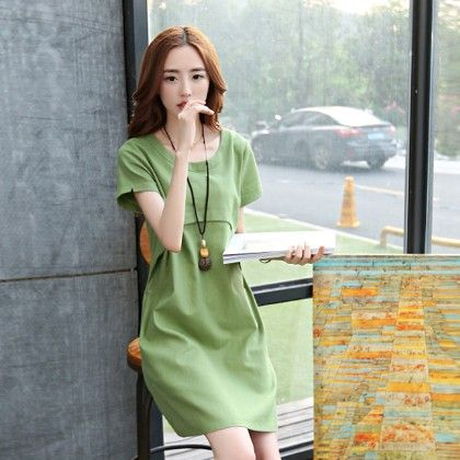 Short Dress Female - Green - STUPA FASHION