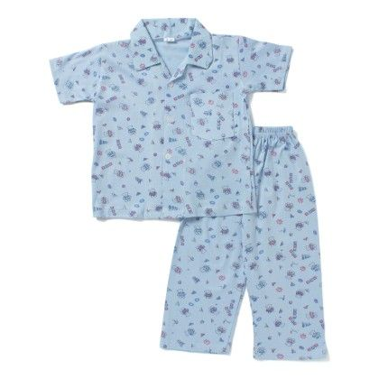 I Love Teddy Night Suit - Blue - BownBee