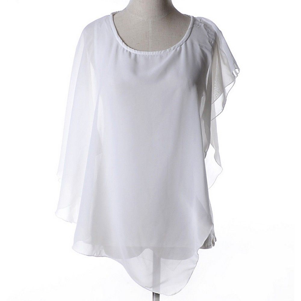 White Batwing Flair Top - Dell's World