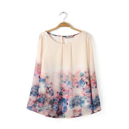 Elegant Vintage Flowers Print Top - STUPA FASHION