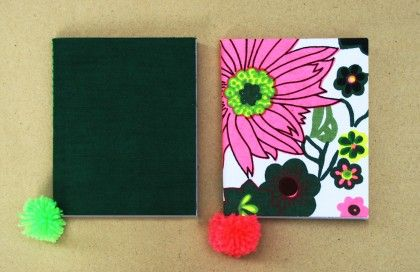 Set Of 2 Pocket Canvas Diaries - Two For Joy