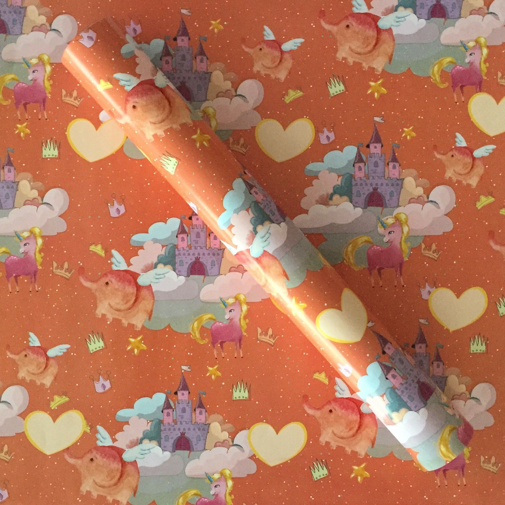 Castle And Unicorn Wrapping Paper - Dots & Doodles