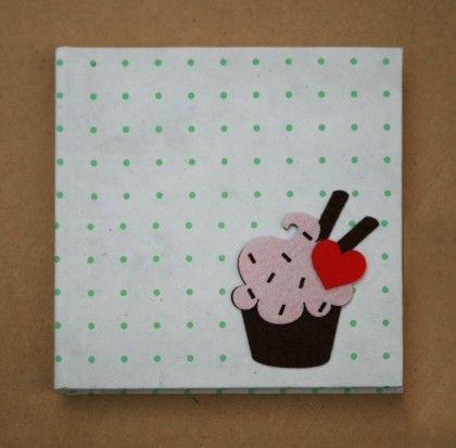 White Cupcake - Hard Bound Diary - Two For Joy