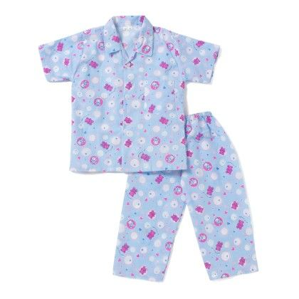 Thinking Of You Night Suit - Blue - BownBee