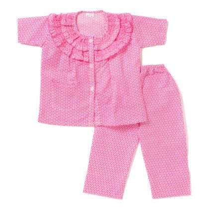 Frilly Me Night Suits - Pink - BownBee