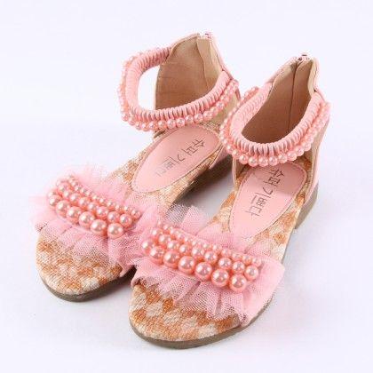 Princess Pearl Lace Sandals - Super Glad Shoes