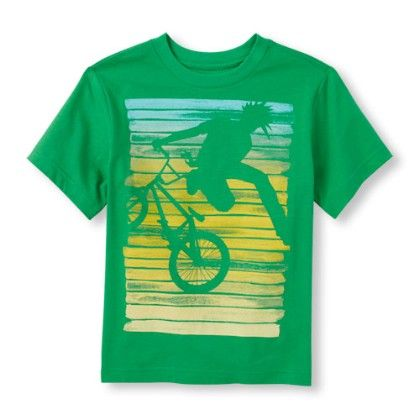 Boys Short Sleeve Extreme Bike Graphic Tee - The Children's Place