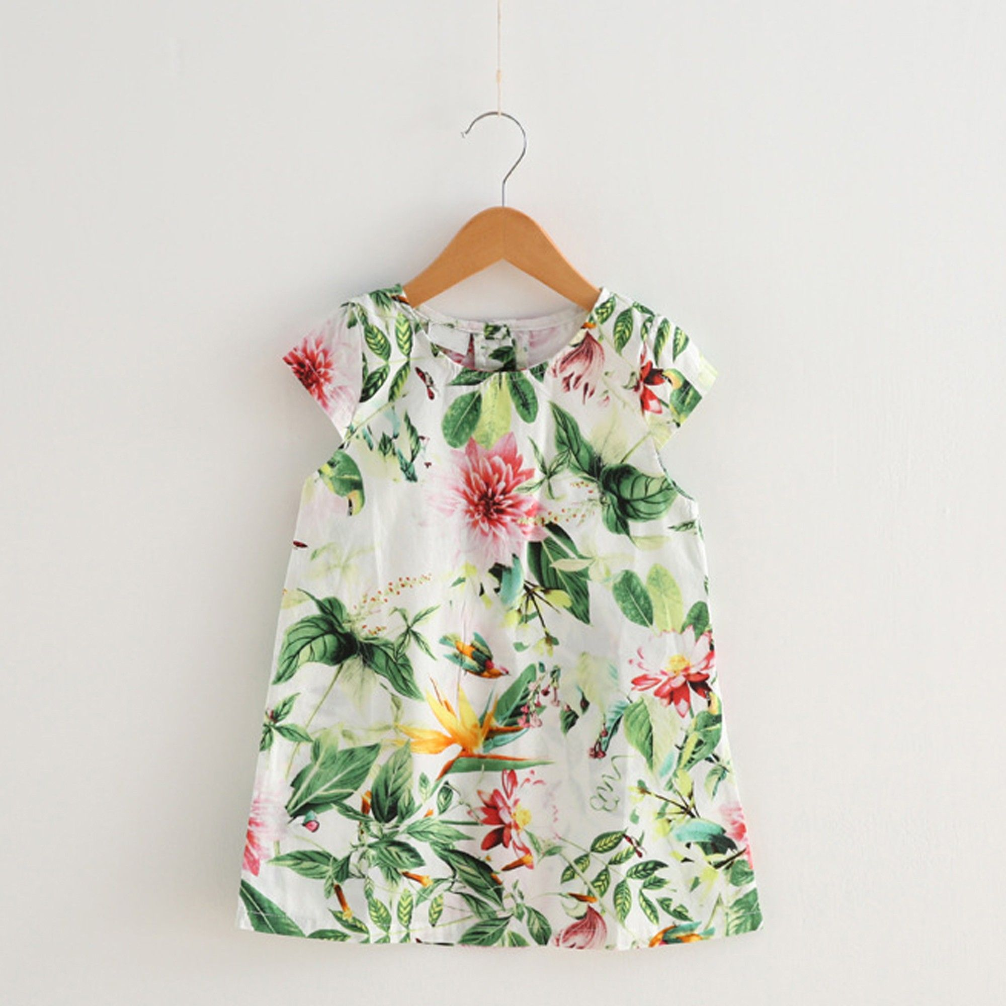 Green Floral Printed Frock - Lil Mantra