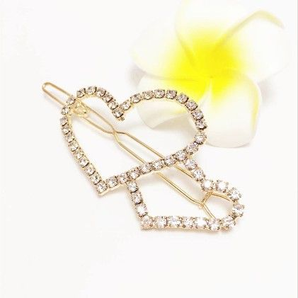 Heart On Heart Gold Clip - Flaunt Chic
