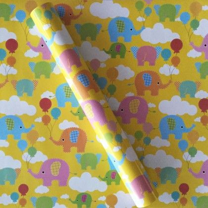 Baby Elephants Wrapping Paper - Dots & Doodles