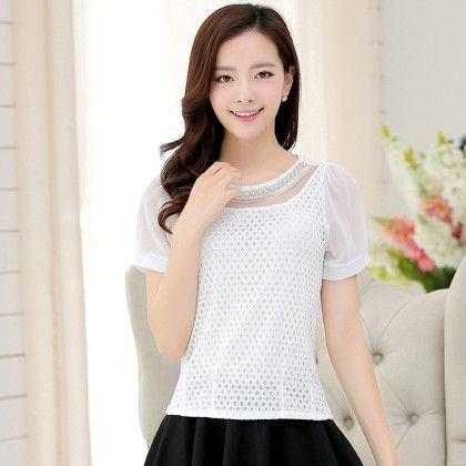White Color Lace Top - STUPA FASHION