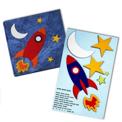 Combo Rocket Diary With Rocket Fridge Magnet - Two For Joy