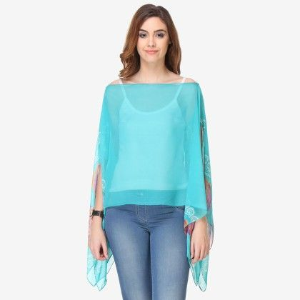Multi Colored Chiffon Printed Top - Varanga