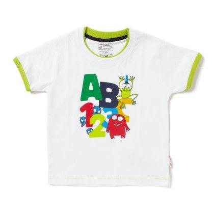 Green Alphabet Printed Tee - Gro Baby