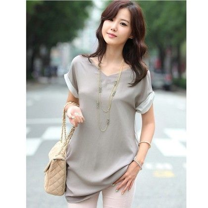 Elegant Vintage Gray Color Top - STUPA FASHION