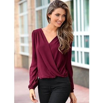 Red Color Formal Tops - STUPA FASHION
