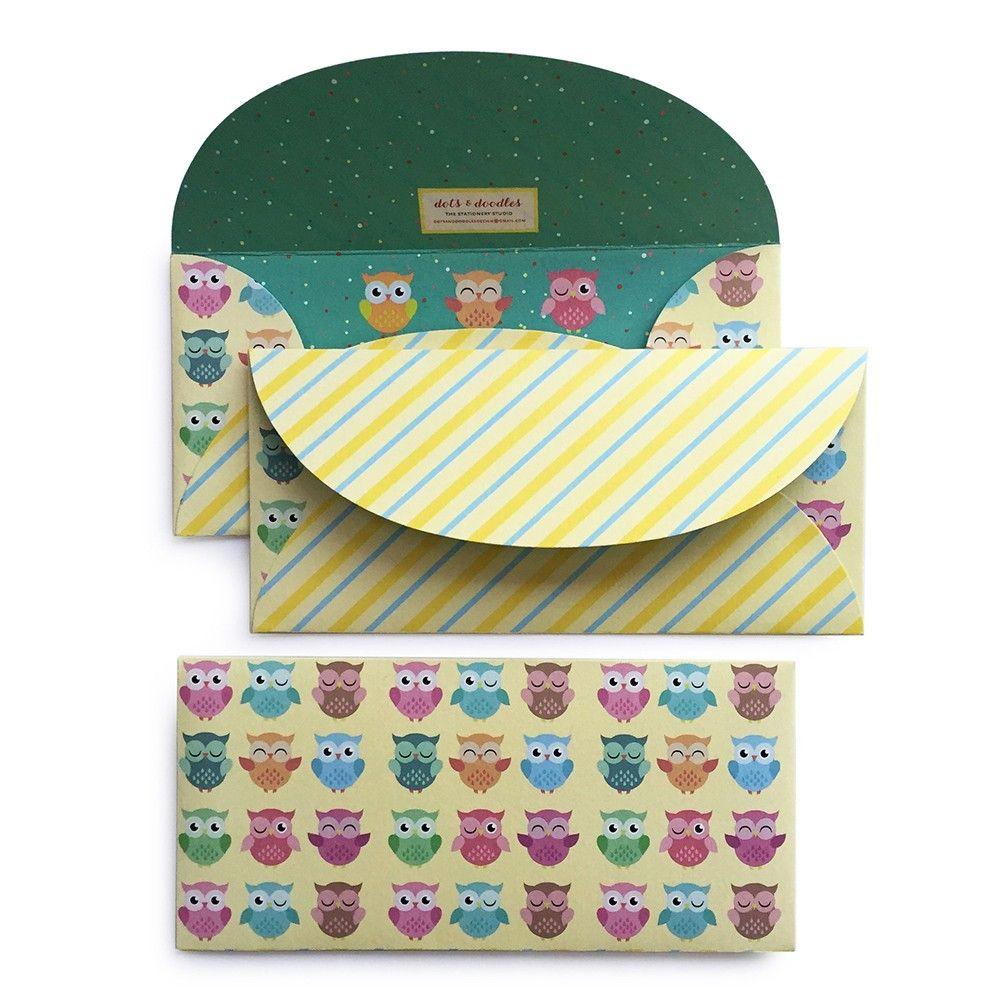 Cute Owls Envelope - Dots & Doodles