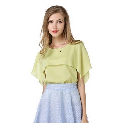Lemon Pleated Top - Dell's World